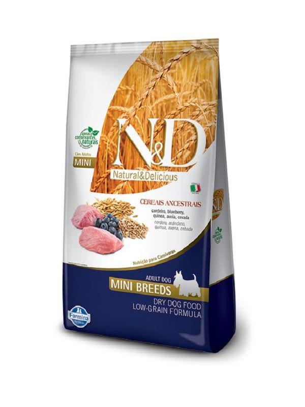 Ração N&D Low Grain Cães Adultos Raças Pequenas Cordeiro e Blueberry 10,1kg