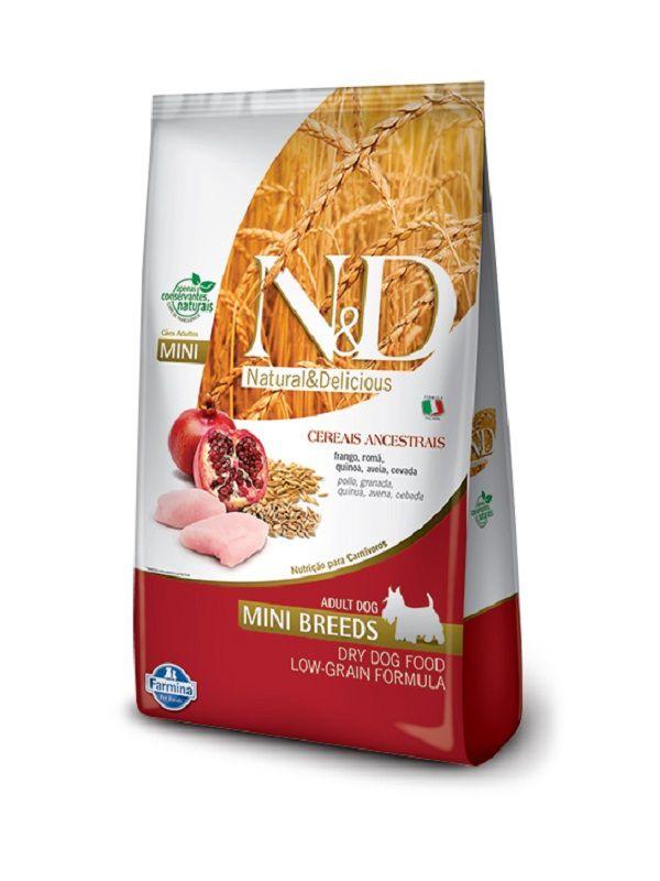 Ração N&D Low Grain Cães Adultos Raças Pequenas Frango e Romã 10,1kg
