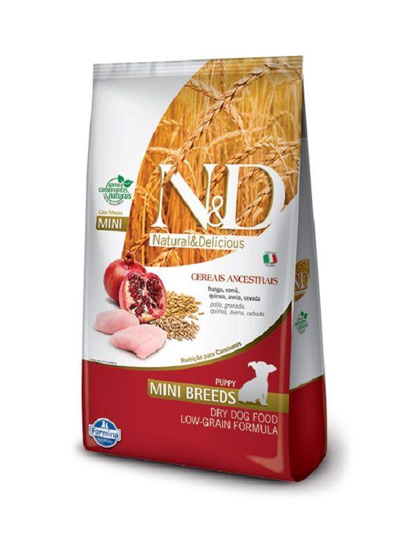 Ração N&D Low Grain Cães Filhotes Raças Pequenas Frango e Romã 7,5kg