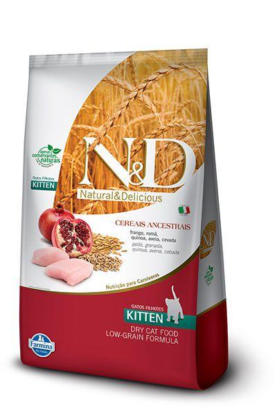 Ração N&D Low Grain Gatos Filhotes Frango e Romã