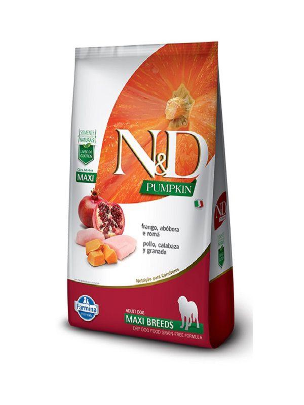 Ração N&D Pumpkin Grain Free Cães Adultos Raças Grandes Frango, Abóbora e Romã 10,1Kg