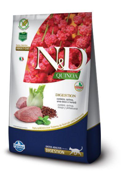 Ração N&D Quinoa Digestion Gatos Adultos Cordeiro