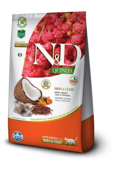 Ração N&D Quinoa Skin & Coat Gatos Adultos Peixe
