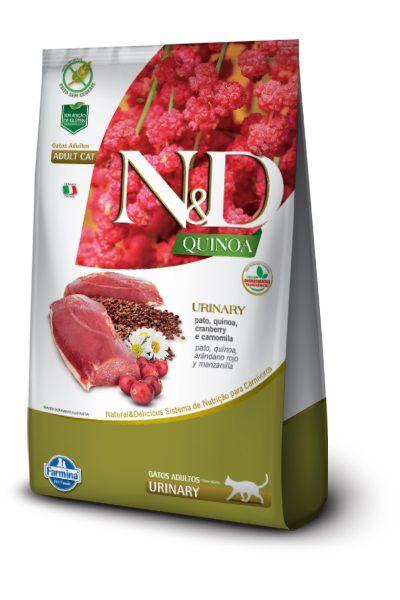 Ração N&D Quinoa Urinary Gatos Adultos Pato