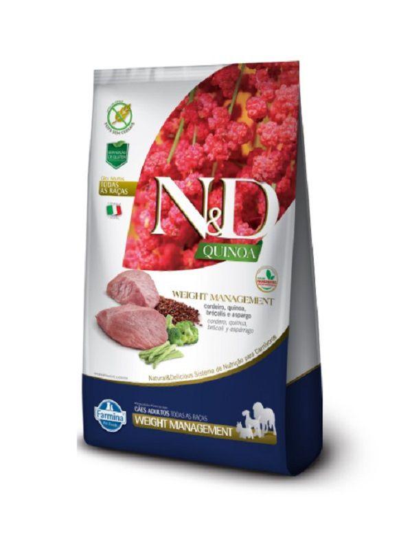 Ração N&D Quinoa Weight Management Cães Adultos Cordeiro