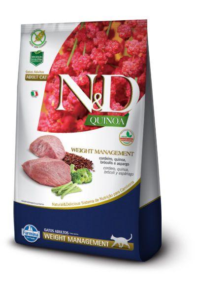 Ração N&D Quinoa Weight Management Gatos Adultos Cordeiro