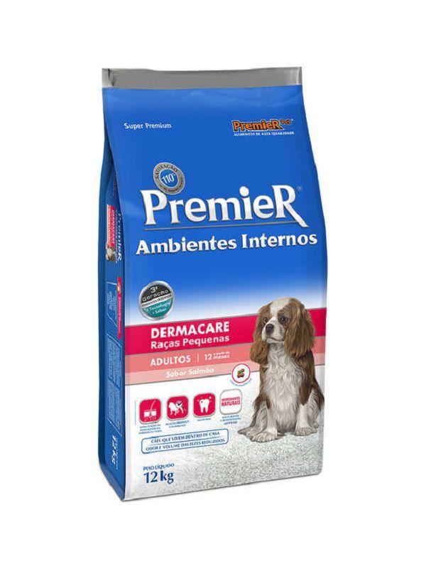 Ração Premier Ambientes Internos Dermacare Cães Adultos Raças Pequenas