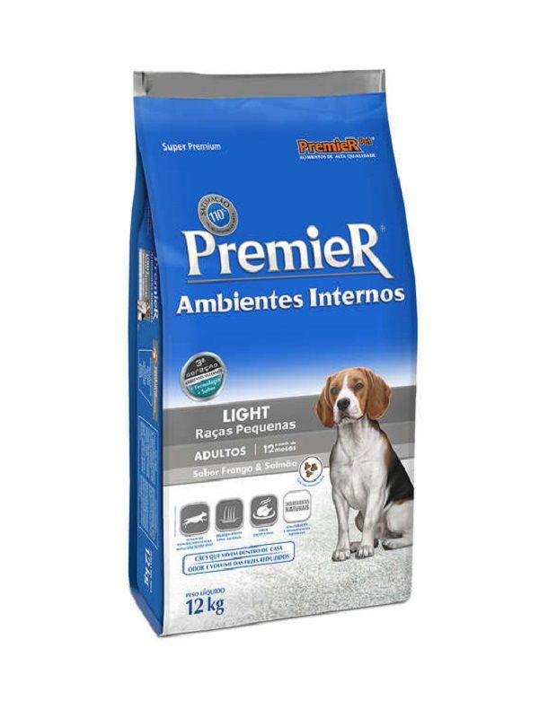 Ração Premier Ambientes Internos Light Cães Adultos Raças Pequenas