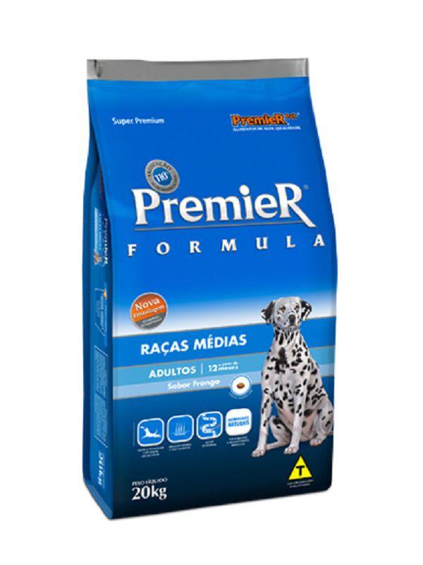 Ração Premier Cães Adultos Raças Médias 20Kg