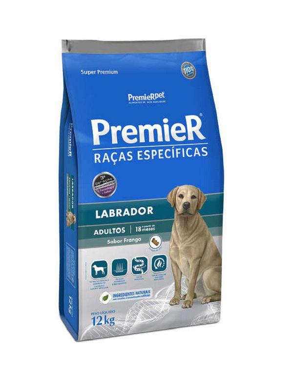 Ração Premier Labrador Cães Adultos 12Kg