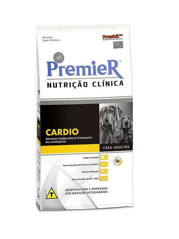 Ração Premier Nutrição Clínica Cardio Cães Adultos