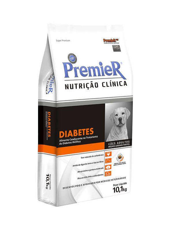 Ração Premier Nutrição Clínica Diabetes Cães Adultos Porte Médio e Grande 10,1Kg