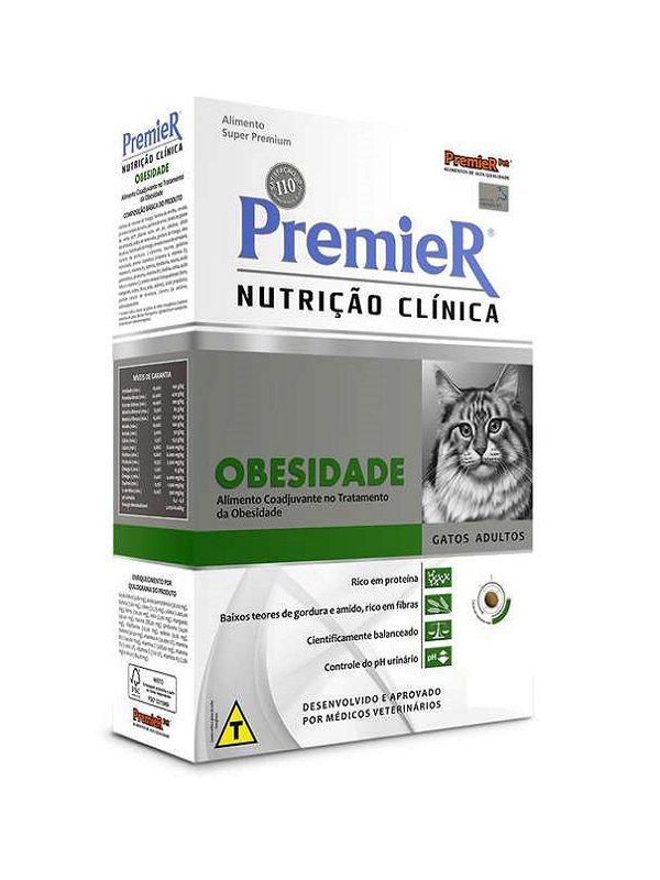 Ração Premier Nutrição Clínica Obesidade Gatos Adultos