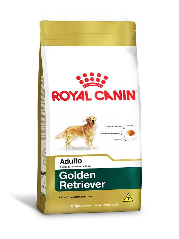 Ração Royal Canin Golden Retriever Cães Adultos 12kg