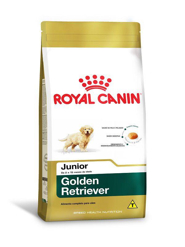 Ração Royal Canin Golden Retriever Cães Filhotes 12Kg