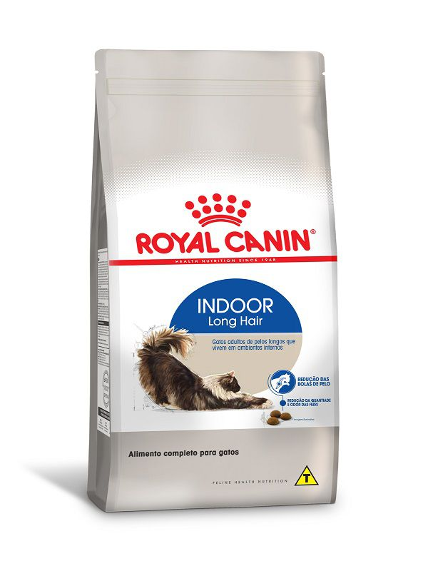 Ração Royal Canin Indoor Long Hair Gatos Adultos