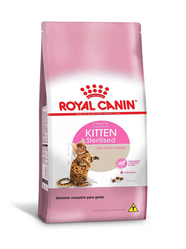 Ração Royal Canin Kitten Sterilised Gatos Filhotes