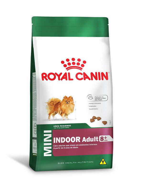 Ração Royal Canin Mini Indoor 8+ Cães Adultos