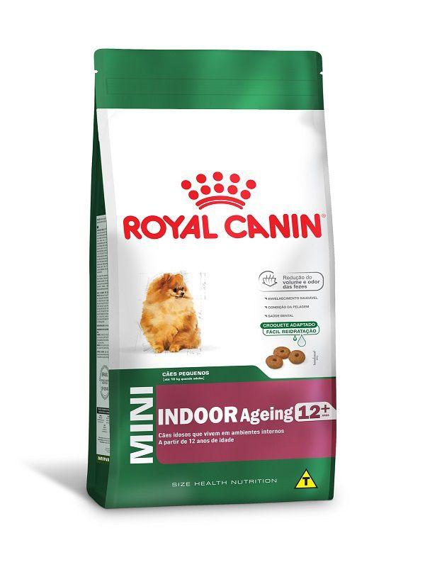 Ração Royal Canin Mini Indoor Ageing 12+ Cães Adultos