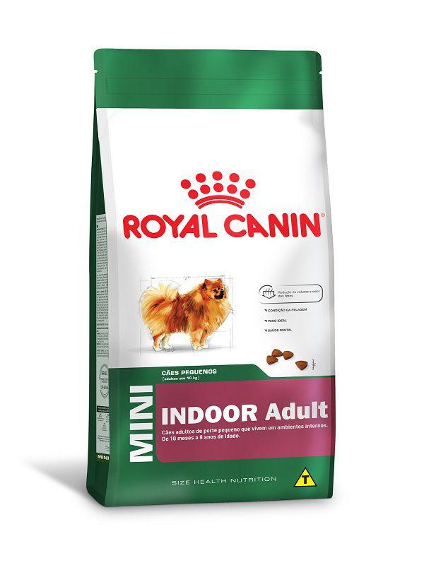 Ração Royal Canin Mini Indoor Cães Adultos