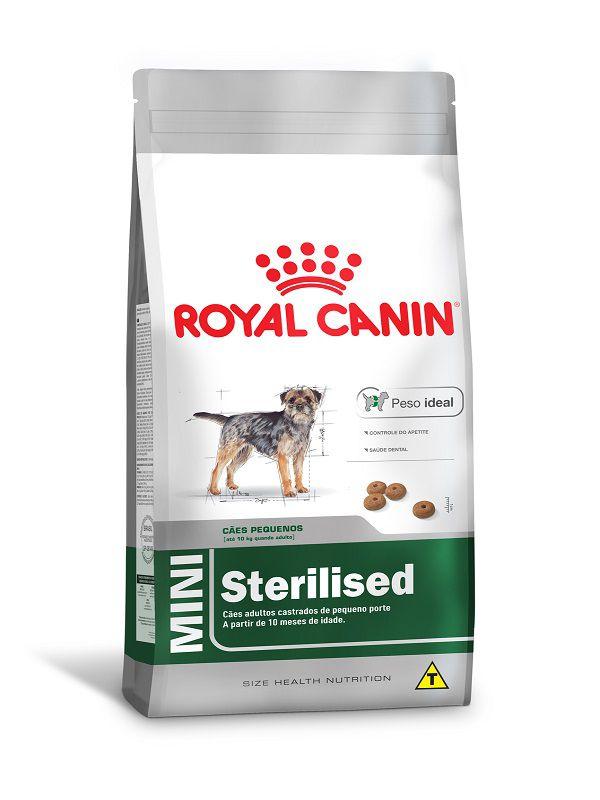 Ração Royal Canin Mini Sterilised Cães Adultos Raças Pequenas 1Kg