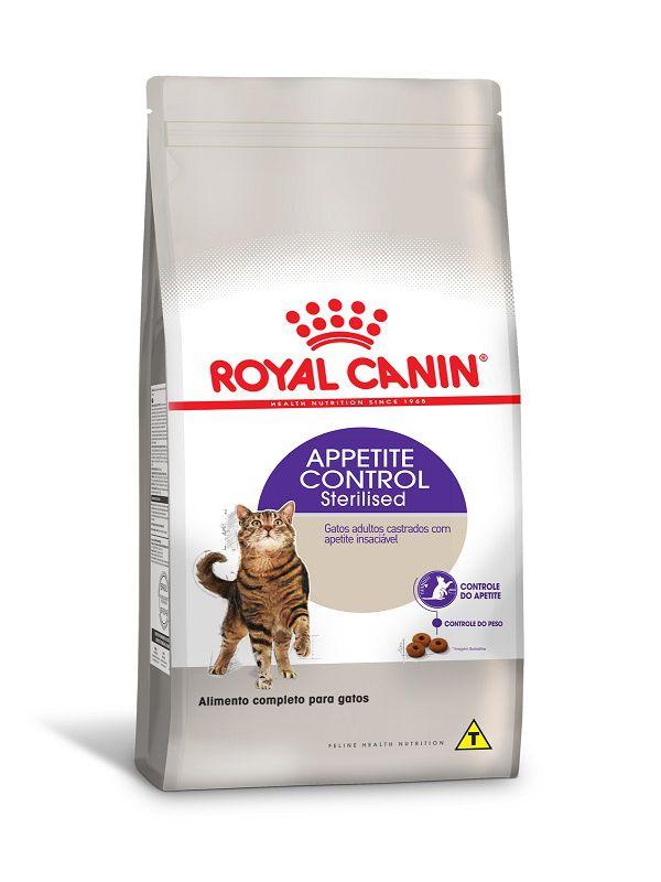 Ração Royal Canin Sterilised Appetite Control Gatos Adultos
