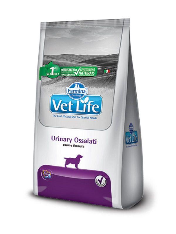 Ração Vet Life Urinary Ossalati Cães Adultos