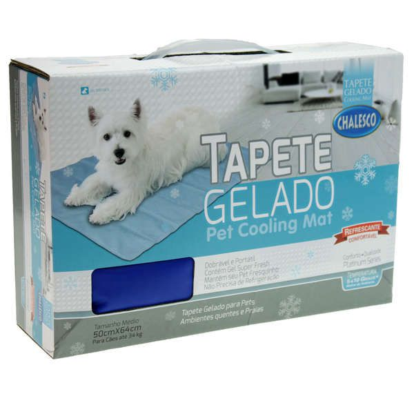 Tapete Gelado Chalesco Pet Cooling Mat 50cmx64cm