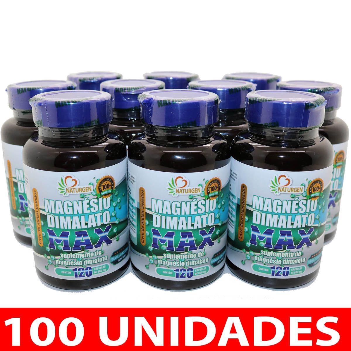100 MAGNESIO DIMALATO 800MG 120 CAPS  PURO ULTRA CONCENTRADO