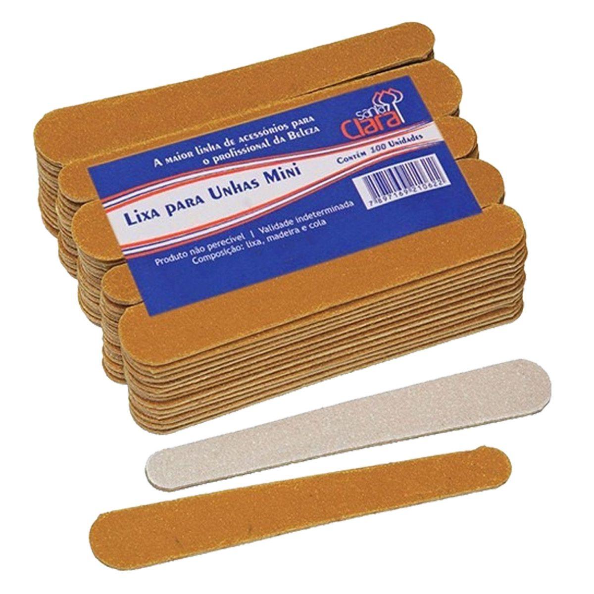144 Mini Lixas De Unha Manicure Santa Clara