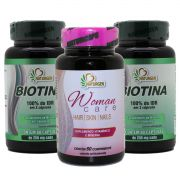 2 Biotina + Hair Skin Nails Crescimento Firmeza Queda