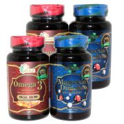 2 Magnesio Dimalato Pro Evolution 1000mg + 2 Omega 3 Naturcaps