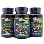 3 Magnesio Dimalato Pro 60 Capsulas - Vegano Puro 800mg