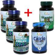 3 Magnesio Dimalato Puro 800mg (120 Caps) + Calcio D3 + K2