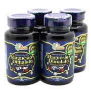4 Magnesio Dimalato Pro 60 Capsulas - Vegano Puro 800mg