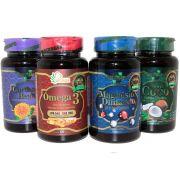 5x Kit Quarteto Naturcaps Magnesio Omega 3 Cartamo Coco