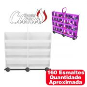 Carrinho Expositor 160 Esmaltes Display Esmaltes