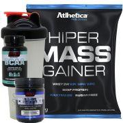 Kit Massa 1kg + BCAA com B6 120 comprimidos + Creatina 100g