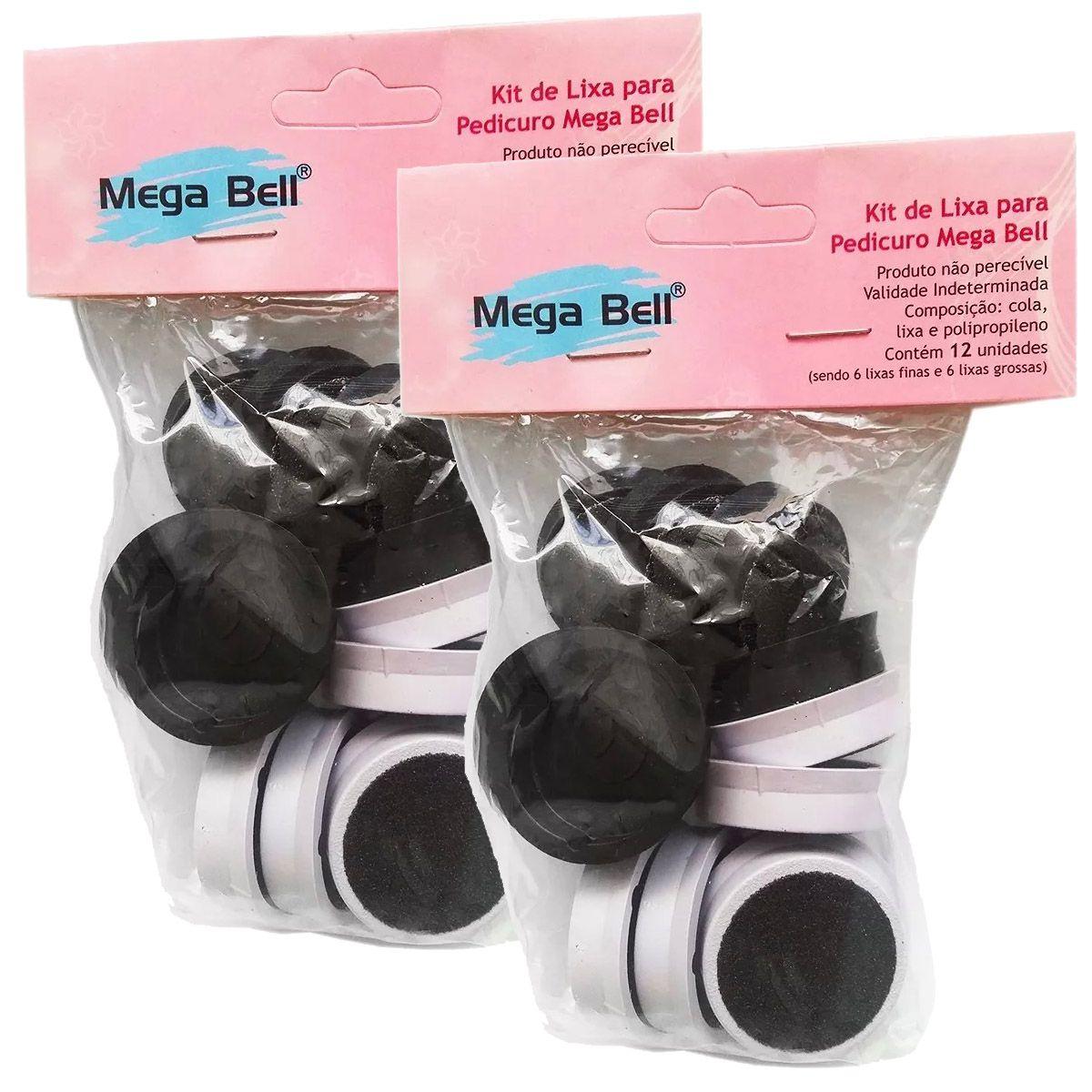 2 Refil Lixa Pedicuro Megabell - 24 Lixas