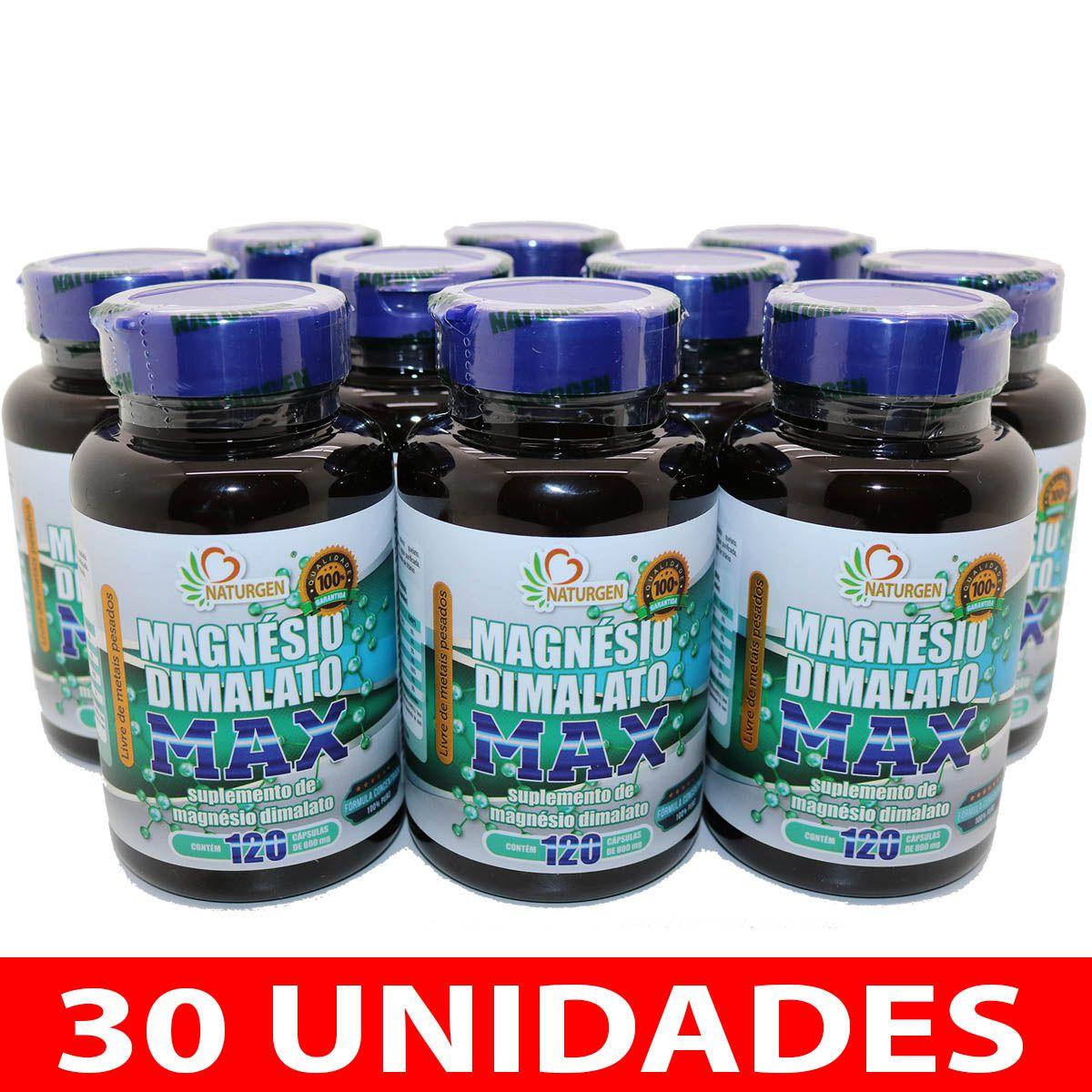 30 MAGNESIO DIMALATO 800MG 120 CAPS - PURO ULTRA CONCENTRADO