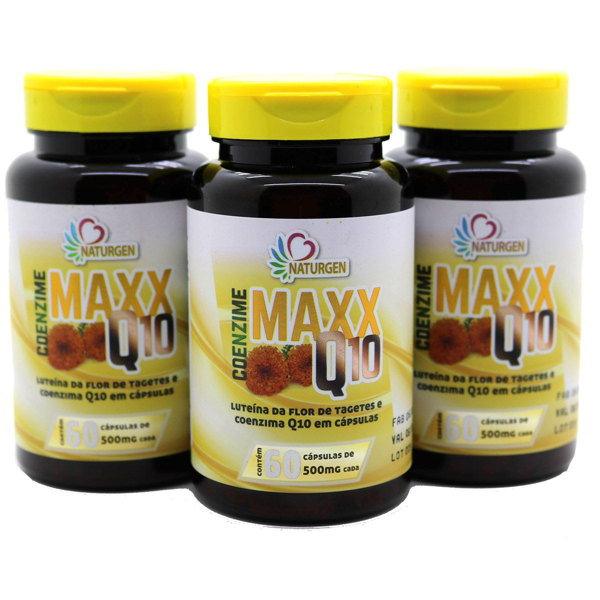 3 Coenzima Q10 Maxx Luteina Zeaxantina 60 Capsulas