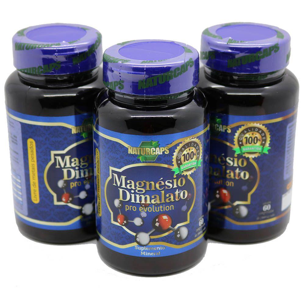 3 Magnesio Dimalato 1000mg Naturcaps Naturgen -30 Doses Por Pote