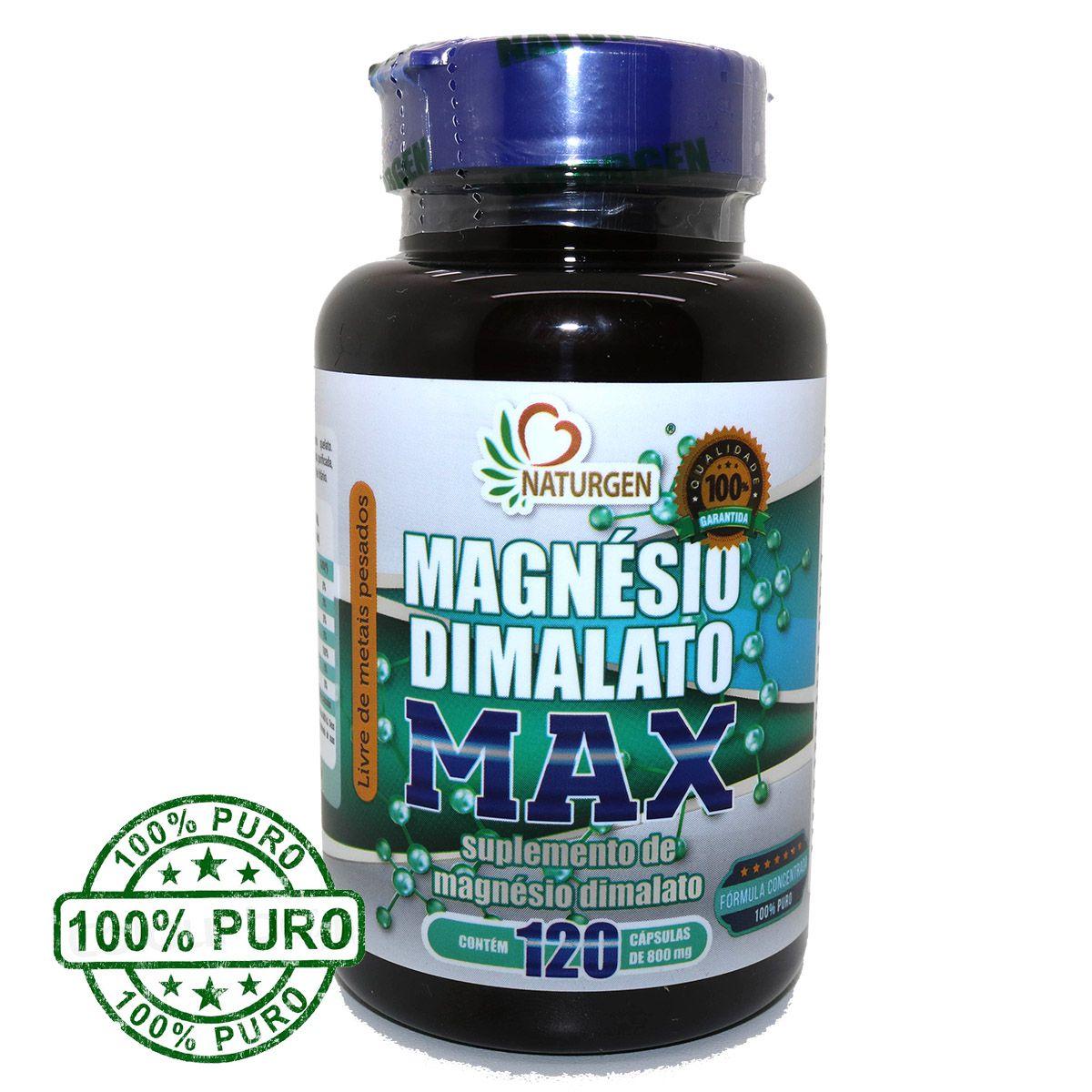 3 Magnesio Dimalato Puro 800mg (120 Caps) + 1 Oleo De Coco