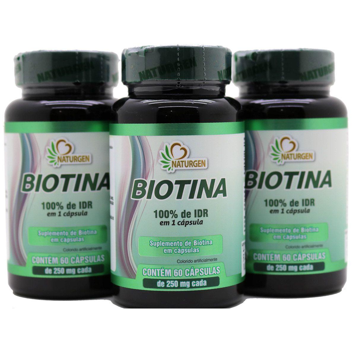 3x Biotina 60 Capsulas 6 Meses Vitamina H Vitamina B7 Crescimento Firmeza