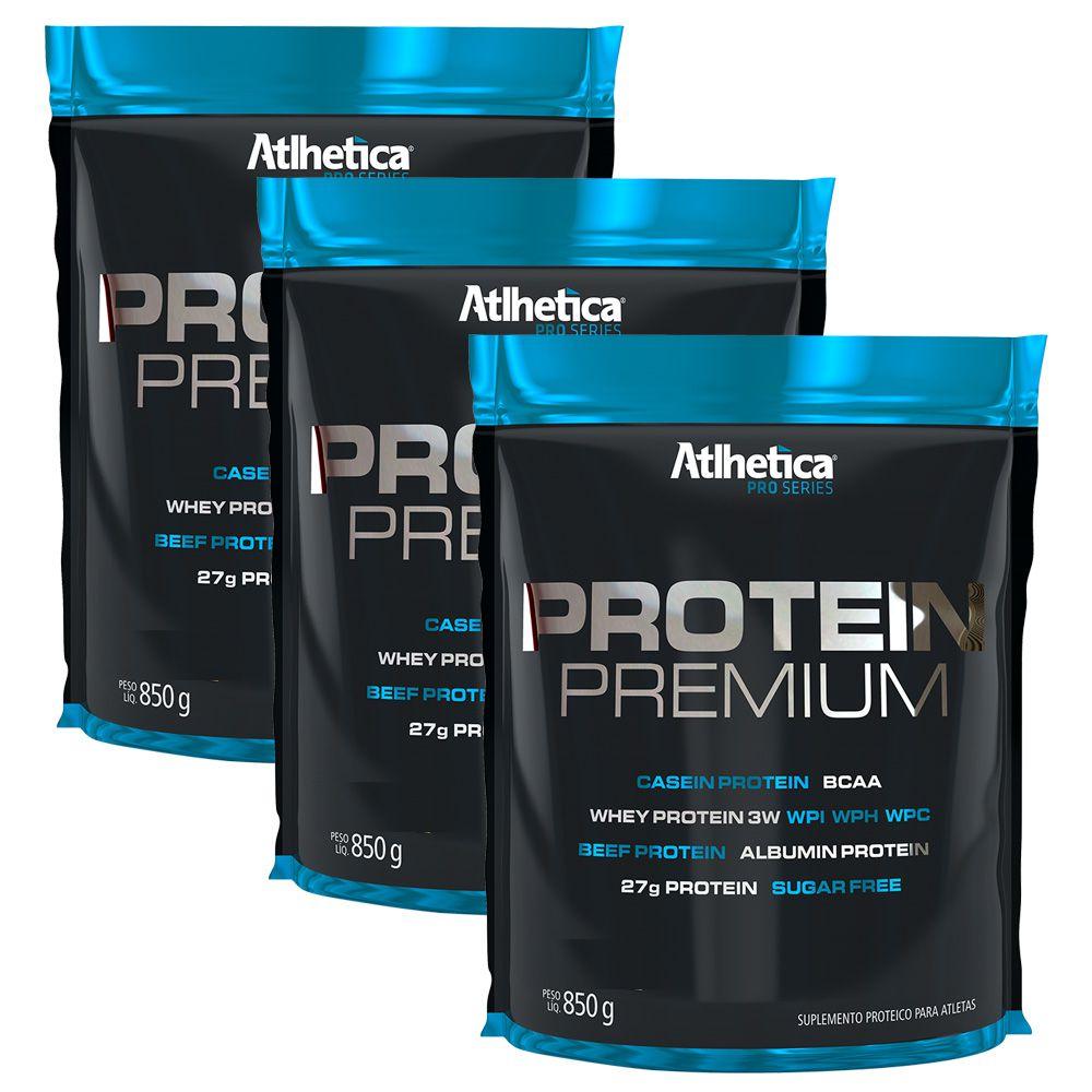 3x Whey Protein Premium 850g Pro Series Athletica