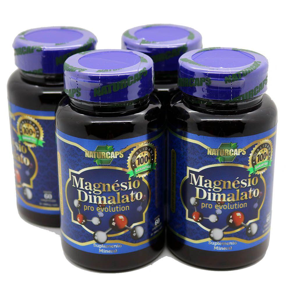 4 Magnesio Dimalato Pro Evolution 1000mg - 30 Doses Por Pote