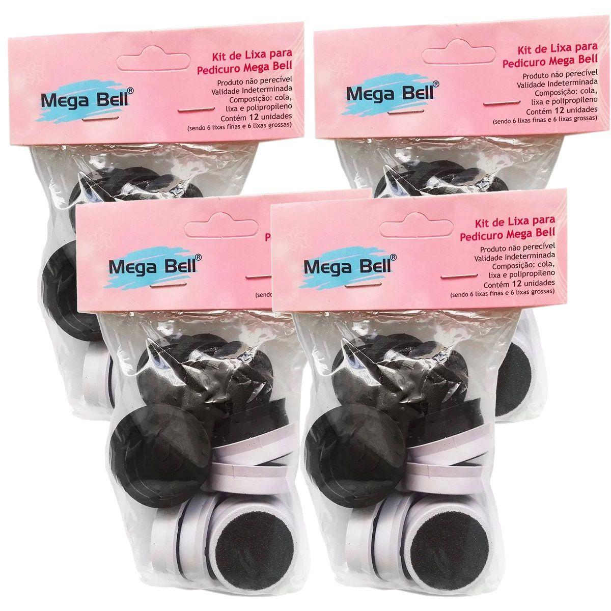4 Refil Lixa Pedicuro Megabell - 48 Lixas