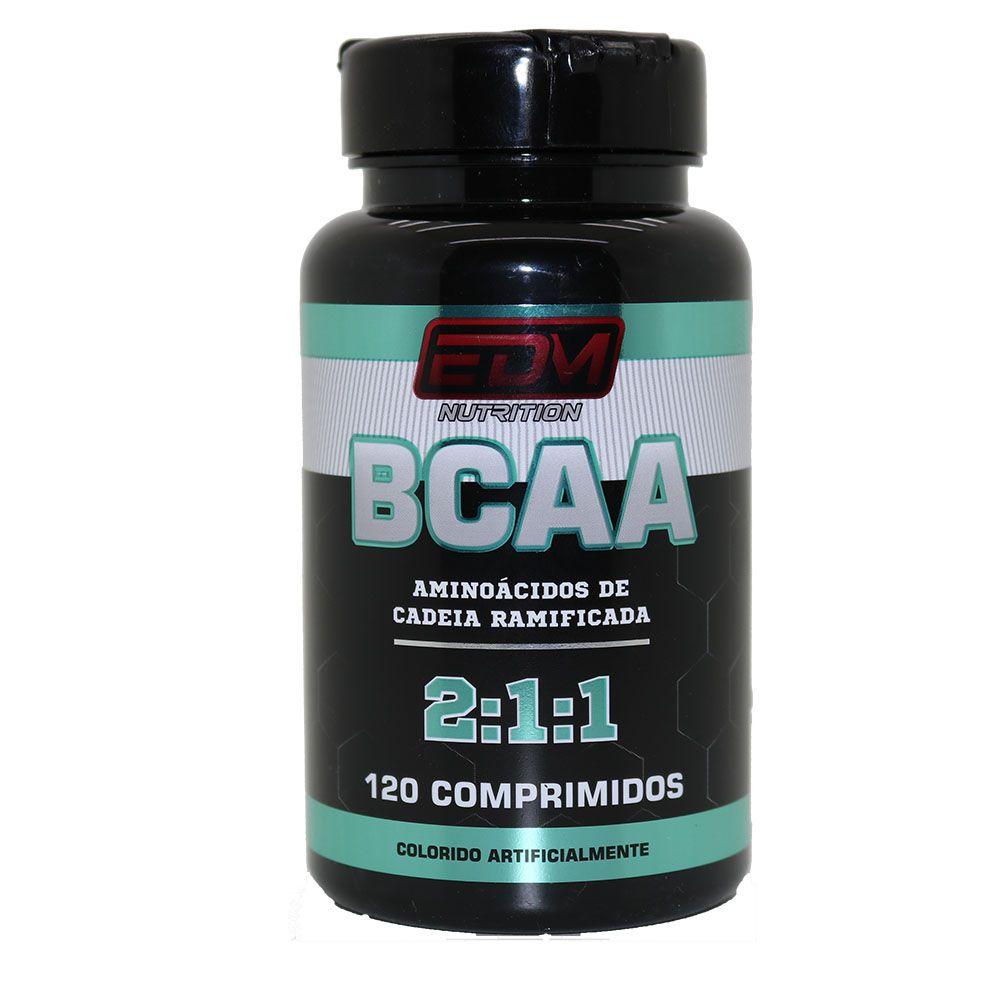 BCAA 2:1:1 com B6 120 comprimidos EDM Nutrition