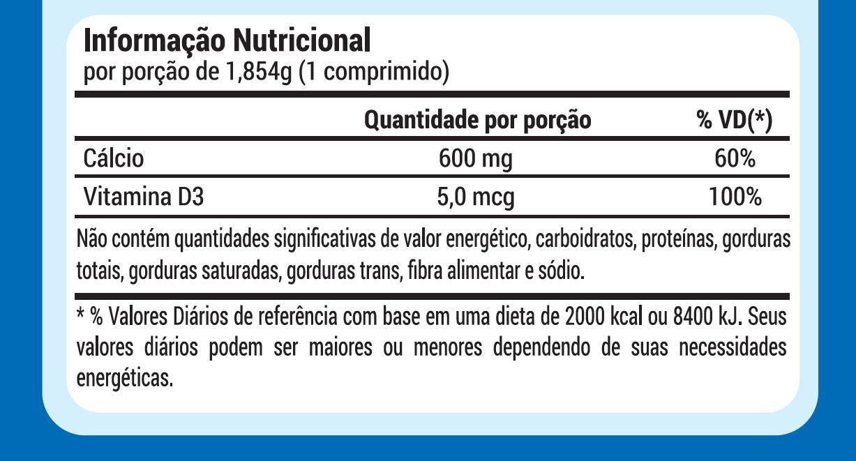 CALCIO 600 + D3 - 60 COMPRIMIDOS - 2 MESES