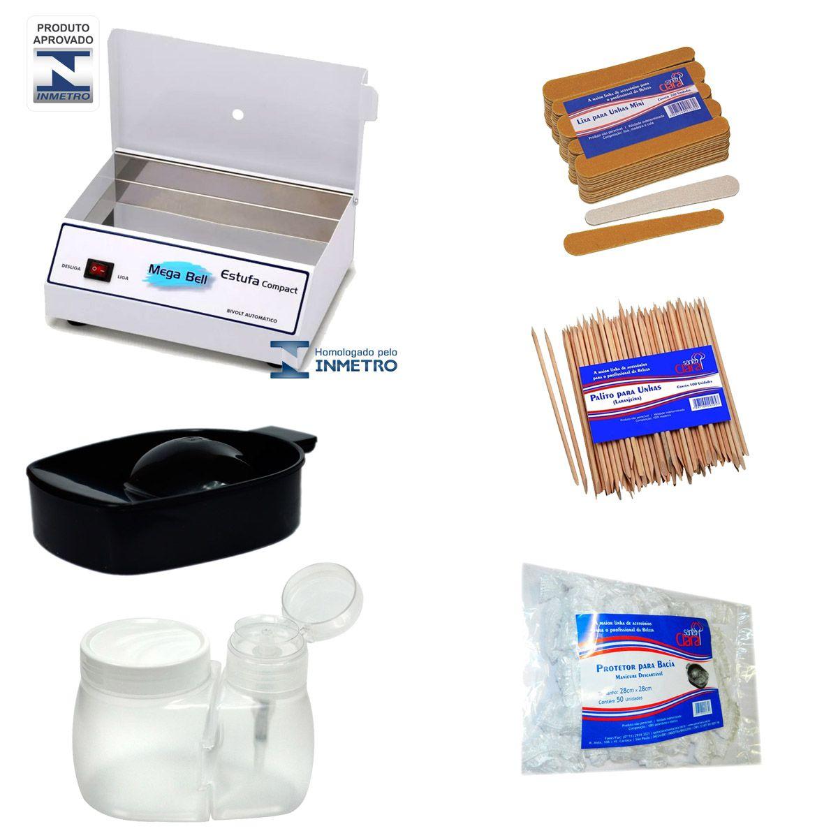 Estufa Esterilizadora Manicure Bivolt + Kit com 5 Produtos